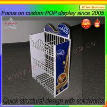 3 layers custom promotion sweet countertop display shelf with head logo