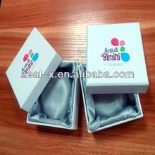 White Cardboard High Quality Custom Jewelry Paper Box Lining Fabric