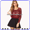 high end fashion wholesale clothing women tops blouse,high fashion womens clothing new design beautiful lace tops casual blouse