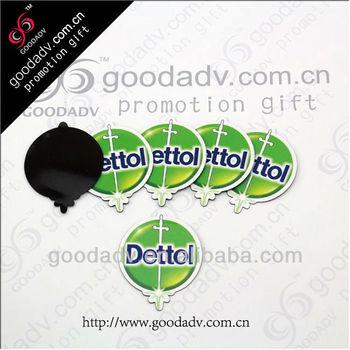 New design personalized LOGO shape paper fridge magnet