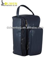 Portable Golf Leather Shoe Bag