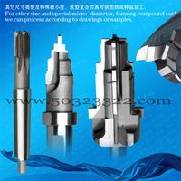 Carbide drilling reamer,combined reamer,2-flute profile reamer