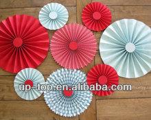 14inch wedding decorations paper rosettes fan