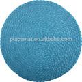 Ahora ronda de diseños de disko manteles individuales, de color turquesa, conjunto de 4