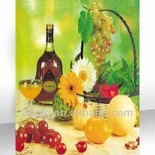 Custom 3d picture of fruit for dinner room decoration