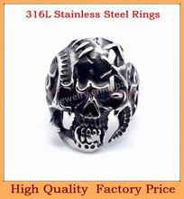 Skull Ring Biker Jewelry mens skull jewelry ring