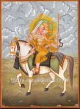2014 Ganesha Painting HANDMADE India Hindu Religion Paper Art