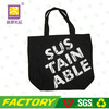 Custom printed 100% cotton canvas tote bag black