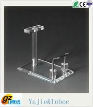 acrylic liquor display stand floor standing shoe rack display