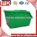 Metal industrial de basura cubo de basura