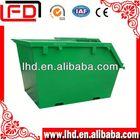 metal industrial trash bin