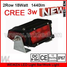 cree 2 row 18W led working light bar Black Housing