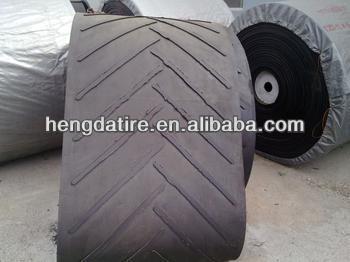 Super quality Nylon/Cotton/Polyester Chevron/Patterened Conveyor Belt