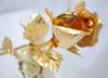 25 cm length 24k gold foil rose