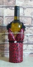red leopard fashion bra wine bottle bags