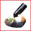 Cute resin handmade lying Dog Wine Holder
