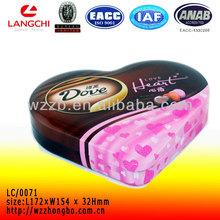 Heart shape wedding gift tin box