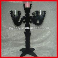 black acrylic professional handcrafts plastic candelabra