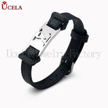 High Replica classic bio magnetic leather bracelet for men