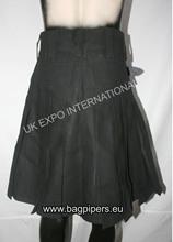 Black Casual Pocket Scottish Kilt