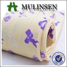 FDY Custom Printed Blue White Polka Dot Fabric Spandex Textiles