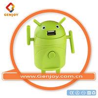 GENJOY Cute Android robot worldwide multi universal ac dc adaptor walmart with usb with case 1000mA UK/Europe/USA/AU Plug