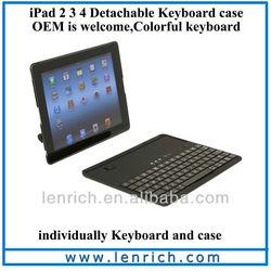 LBK115 360 degree Rotation Wireless Bluetooth keyboard For iPad 2,3 with Hardshell Case
