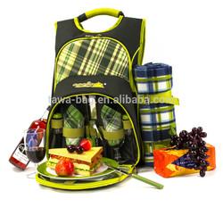 Wholesale 2 person picnic cooler bag with picnic blanket bag