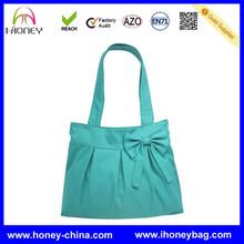 New Design High Quality Blue Ladies Bow Canvas Diaper Bag