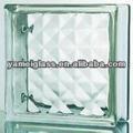 construção de bloco de vidro decorativo