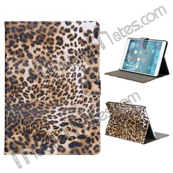 New Arrival for iPad Air Leather Case, Leopard Stand Case for iPad Air