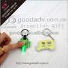 Custom shape soft pvc led light plastic led keychain / led ring light with key chain