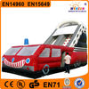 Excting recreational commercial giant fire truck inflatable slide