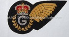 Wing Cap badge in Gold Bullion with Queen Crown