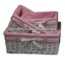 China White wicker basket handicrafts products