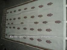 India best design printed Cotton fabrics hippie bedroom oragandy Curatins handblock printed curtains for doors