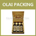 high sale deluxe 3 bottle wooden wine box