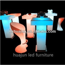 led glowing tables led light up cube table light up bar table