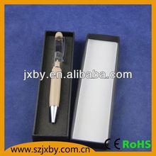 Novelty Metal Liquid Pen with 3D Floater