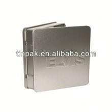 dvd/cd tin case with slide fastener