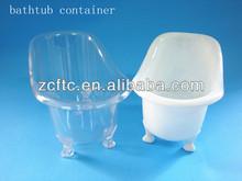 Atacado banheira de plástico recipientes, Pp mini banheira recipientes para contendo produtos de higiene pessoal, Presentes doces etc