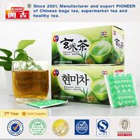 Organic natural high quality brown rice green tea ,brown rice green tea teabag