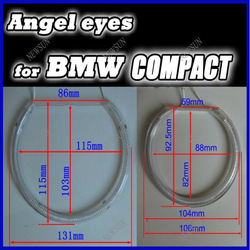 CCFL Car Lights with Long Lifetime and Good Quality,CCFL Angel Eyes for BMW E46 Compact