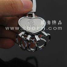 Customize key chain metal keychain car logo with heart