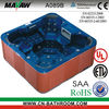square hydro whirlpool outdoor spa hot tubs A089B