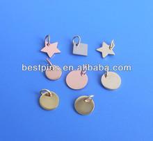 blank metal jewelry tags, gold/silver/coper blank pendants