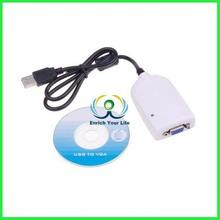 USB to VGA External Video Card Multi Monitor Adapter - 1920x1200 - USB to VGA External Graphics Card