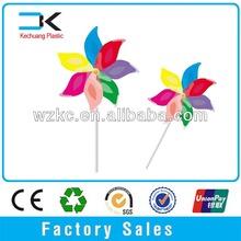 6pcs Flower shape plastic Windmills for kids