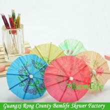 parasol cocktail wooden decoration party picks