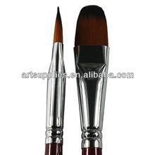 Transon 213 filbert head nylon hair artist brush set for oil /acrylic /gouache/water color paint, 6 pieces a set